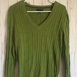 TommyHilfiger Women Long-Sleeve Green Sweater